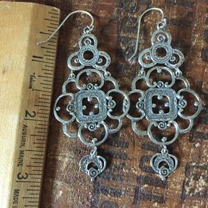 Sterling silver chandelier boho earrings